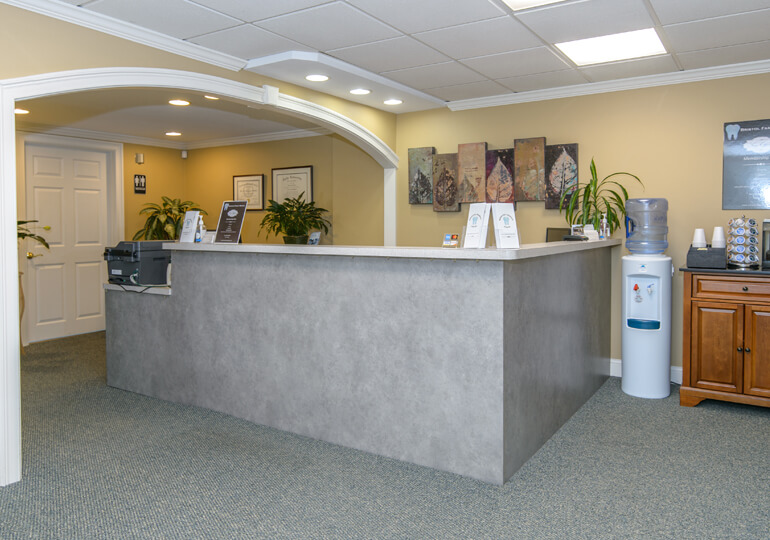 Welcoming front reception desk