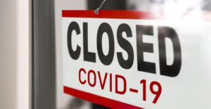 closed sign from COVID-19 for dentist in Bristol