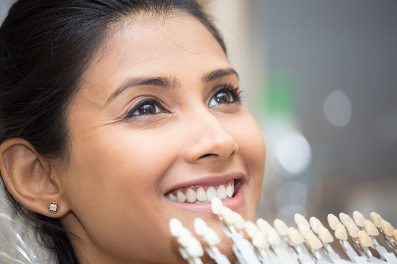 Woman getting dental veneers