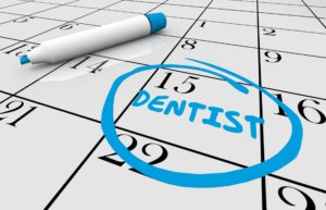 Dental appointment on calendar for Invisalign.